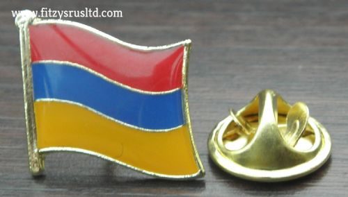 Armenia Armenian Country Flag Lapel Hat Cap Tie Pin Badge / Brooch - Republic